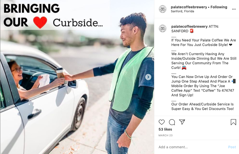 Provide curbside service