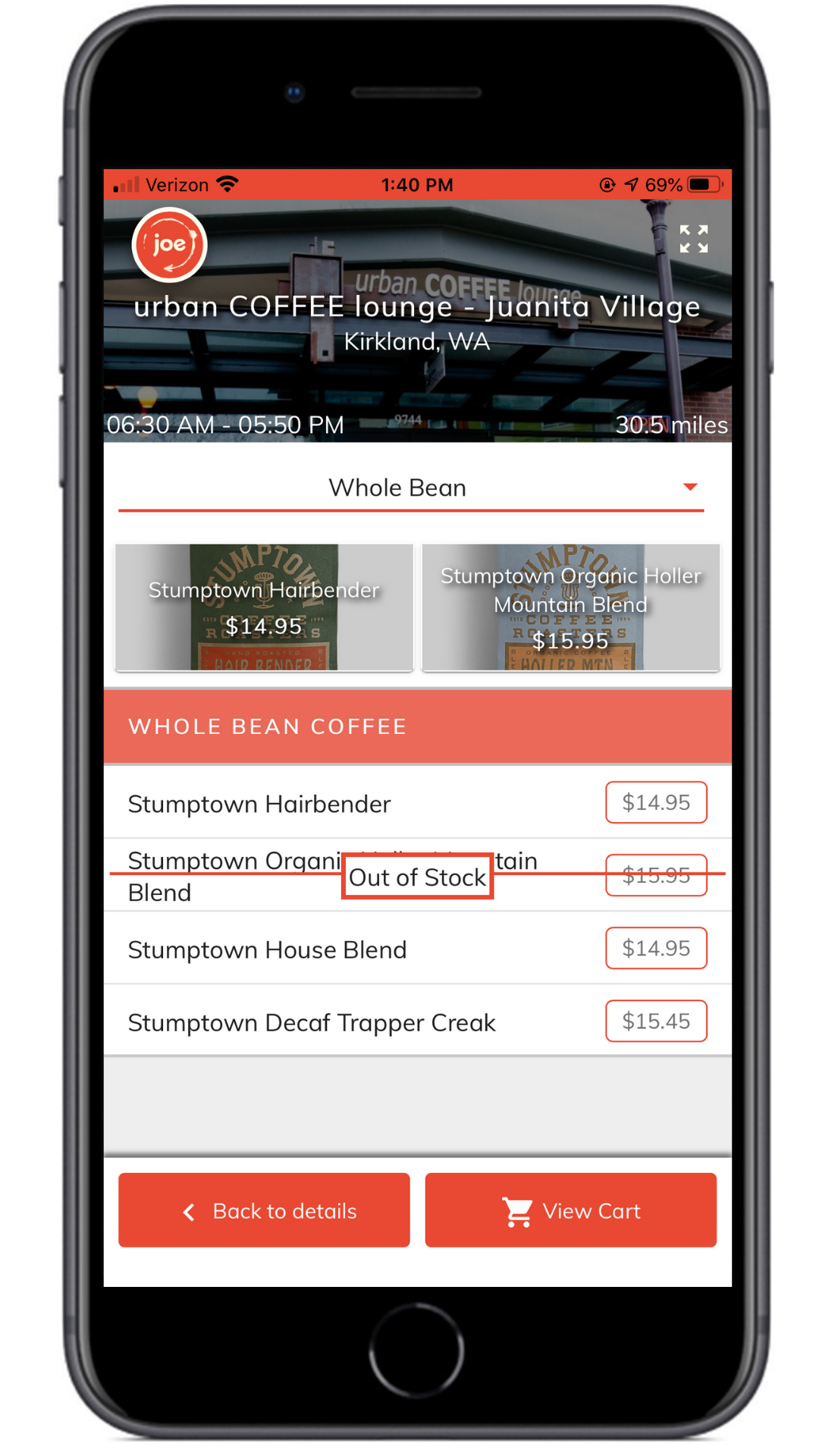 Add larger ticket items to your menu